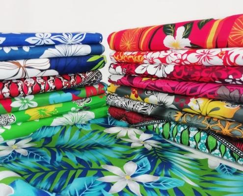 tissu-coton-polyester-tissu hawaien